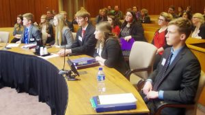 Students seated for Mock Trial